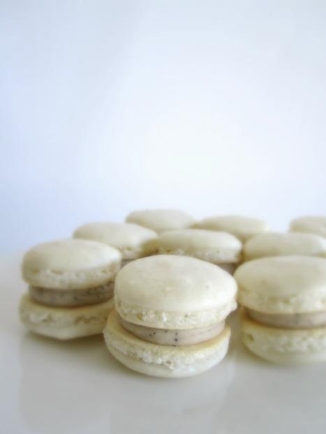 Vanilla Latte Macarons | Lingonberry Jam