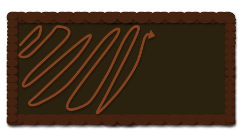 pipe peanut butter on tart